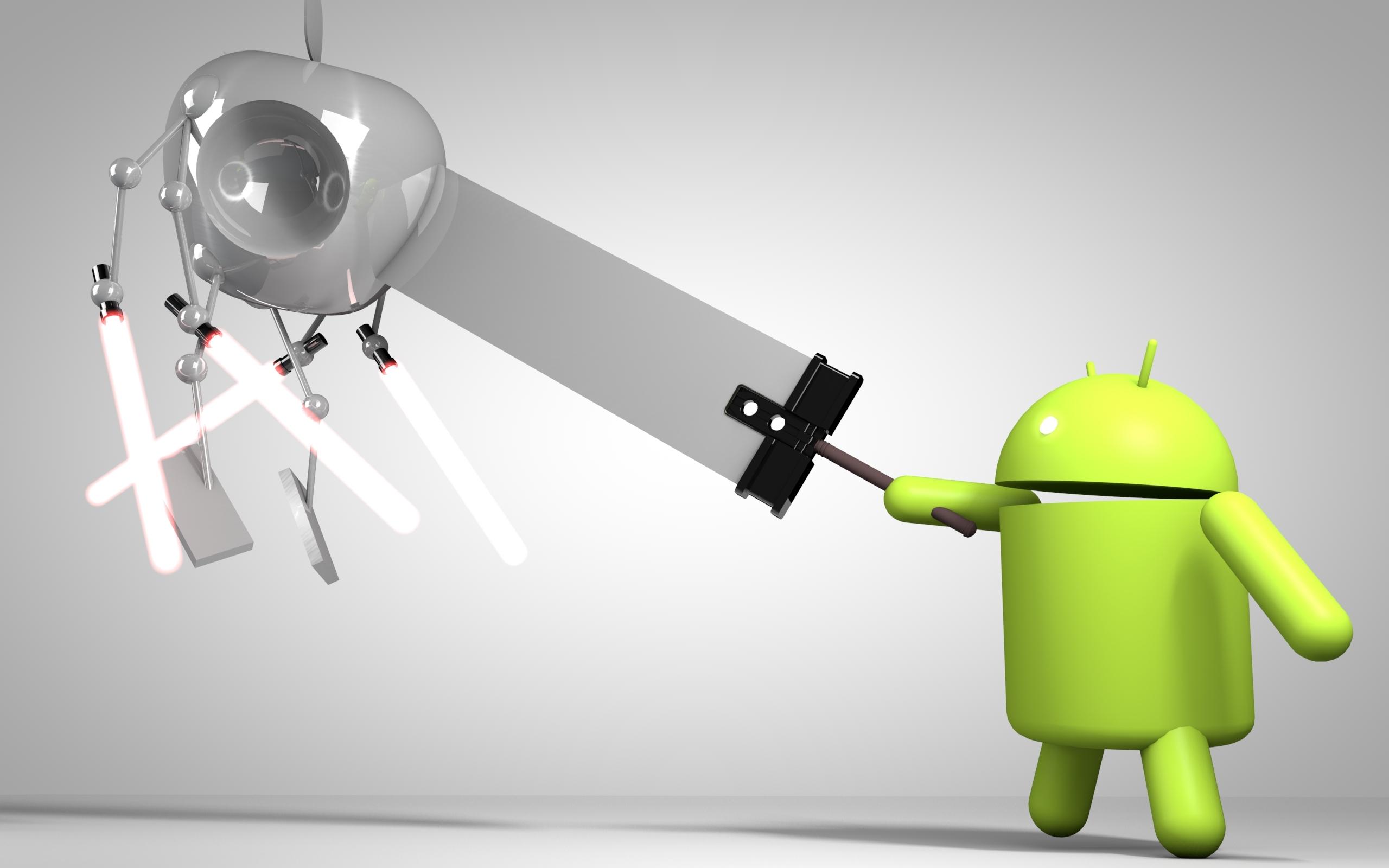 Logos-Wallpaper-Of-Android-VS-Apple