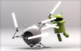 sfondi android vs apple