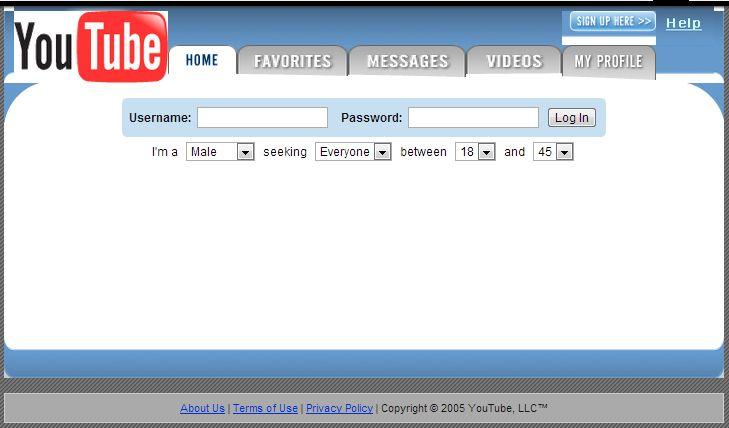 youtube il 28 aprile 2005